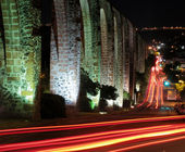 Los Arcos Aqueduct in Queretaro, Mexico. — Stock Photo