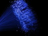 Blue Fiber Optic Lights — Stock Photo