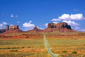 Highway 163 Monument Valley — Stock Photo