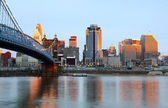 Cincinnati, Ohio Skyline. — Stock Photo