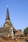 Buddhist Temple Ruins in Ayutthaya, Thailand. — Foto de Stock