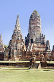 Thai Buddhist Temple Ruins of Wat Chai Wattanara — Stock Photo