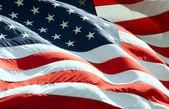 Ondeando la bandera americana — Foto de Stock