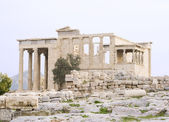 The Erechtheum (Greek temple) at the Acropolis in Athens, Greece. c 5th century BC — Stock Photo