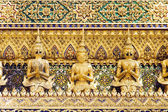 Thai Demon Guardian Statues — Stock Photo