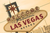 Las Vegas Sign Front Sepia — Stock Photo
