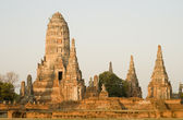 Wat Chai Wattanaram at Sunrise — Stock Photo
