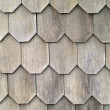 Stock Photo: Wood Tile Wall on Outside of House