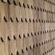 Wood Tile Wall on the Outside of a House - Stock Photo