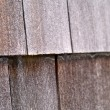Wood Tile Wall on the Outside of a House — Stock Photo