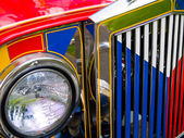Filipino Jeepney Details with Accents — Stock Photo