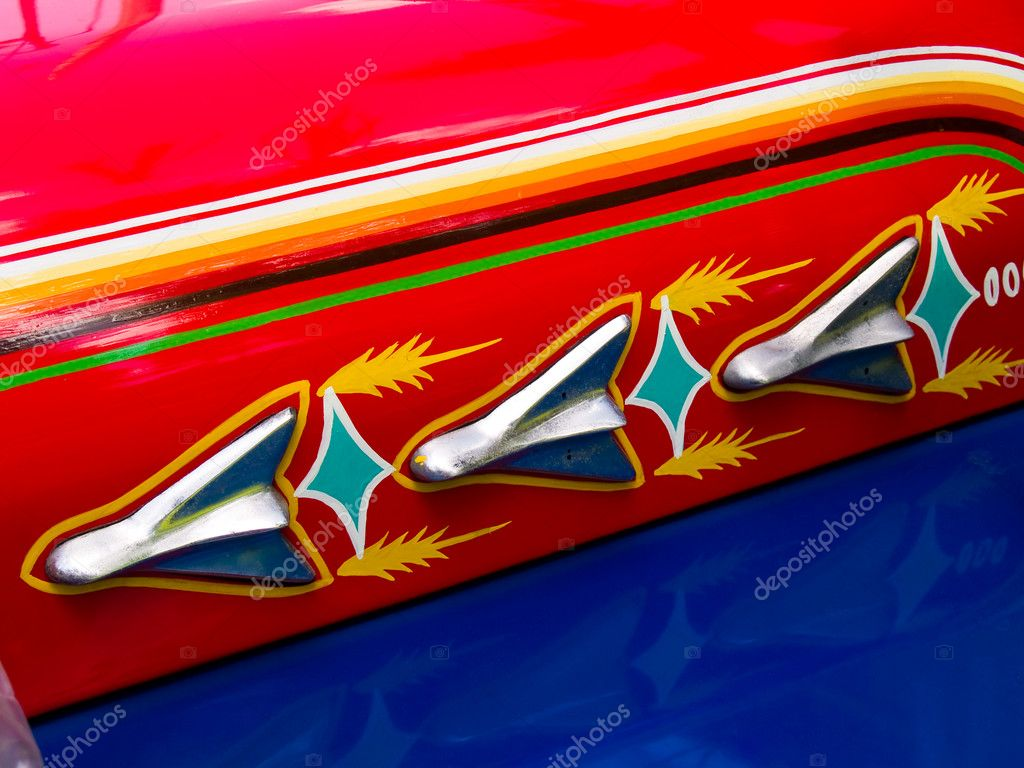 Filipino Jeepney Details with Classic Vintage Accents — Stock Photo #2375884