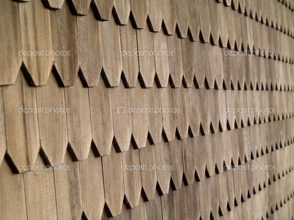 Wood Tile Wall on the Outside of a House — Stock Photo #2375967