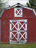 Little Red Barn — Stock Photo