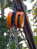 Hook and Chains — Stock Photo