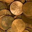 Stock Photo: Pile of United States Coins Copper Pennies