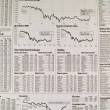 Stock Photo: Stock Market Newspaper Background