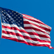 Stock Photo: AmericFlag Waving Proudly on Clear Windy Da