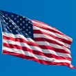 American Flag Waving Proudly on a Clear Windy Da — Stock Photo