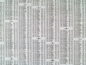 Stock Market Newspaper Sheet Background Business — Stock Photo