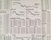 Stock Market Newspaper Background — Stock Photo