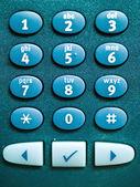 Makro klawiatury telefonu — Zdjęcie stockowe