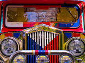 Filipino Jeepney Details with Classic Vintage Ac — Stock Photo
