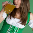 Woman Drinking Beer — Stock Photo #2374196