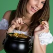 Pot of Gold Woman — Stock Photo #2374201