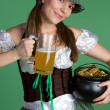 St Patricks Day Woman — Stock fotografie