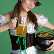 St patricks day woman — Stockfoto
