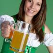 Irish Beer Woman — Stock Photo