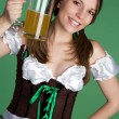 St Patricks Day Woman — Stok Fotoğraf #2374244