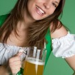 Beer Woman — Stock Photo