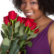 Woman Holding Roses — Stock Photo #2374272