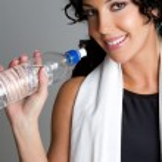 Water Bottle Woman — Stock Photo