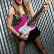 Electric Guitar Girl — Stock Photo #2374377