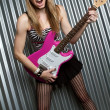 Royalty-Free Stock Photo: Electric Guitar Girl