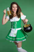 Saint Patricks Day Girl — Stock Photo