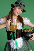 St Patricks Day Woman — Stock Photo