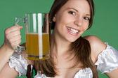 Beer Girl — Stock Photo