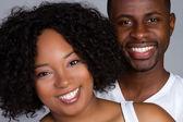 Casal americano africano — Foto Stock