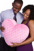 Smiling Black Couple — Stock Photo