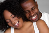 Laughing Black Couple — Stock Photo