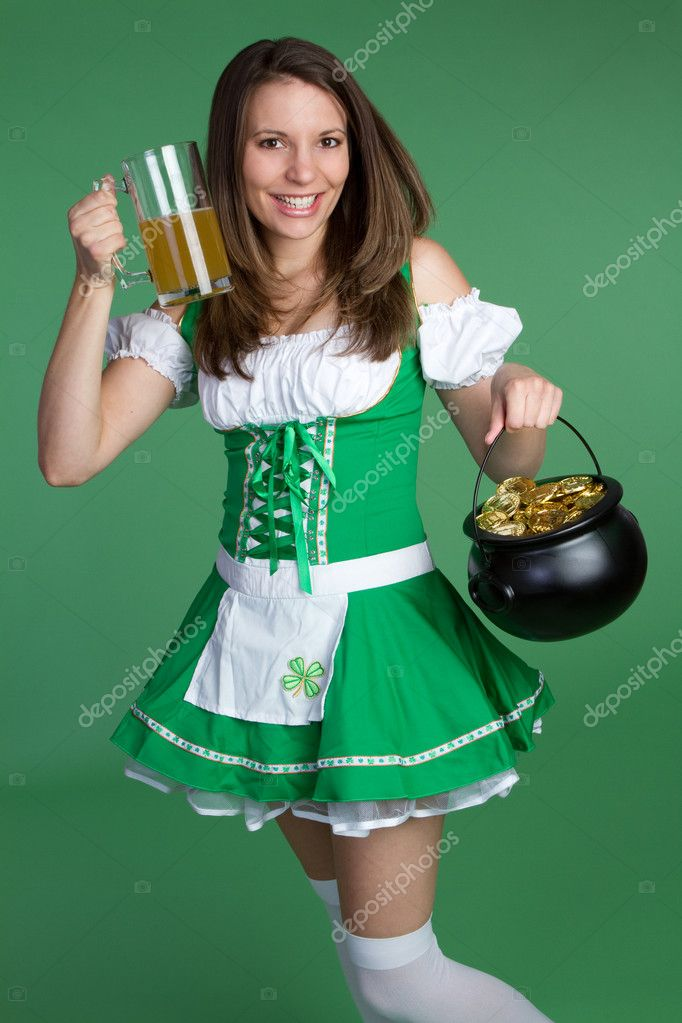 Beautiful Saint Patricks Day Girl — Stock Photo #2374192