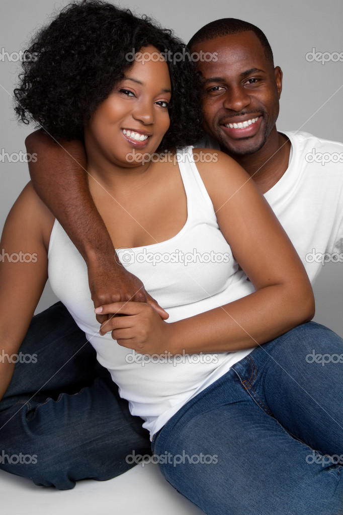 Smiling young african american couple  Stock Photo #2374250