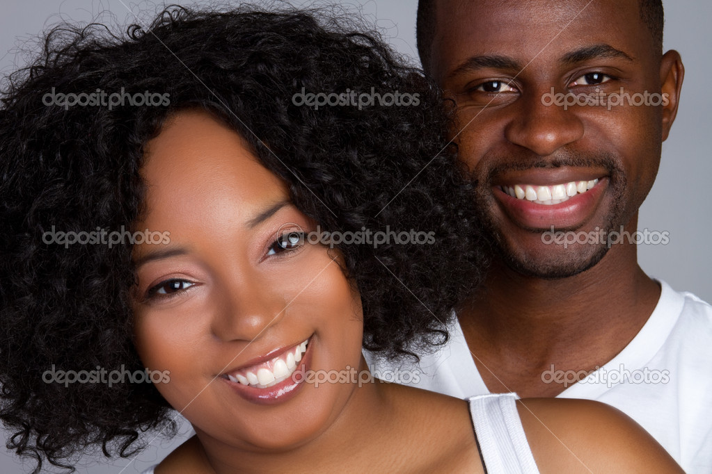 Smiling young african american couple — Stock Photo #2374264