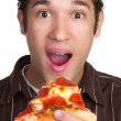Man Eating Pizza — Stock Photo