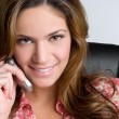 Cell Phone Businesswoman — Stock Photo
