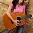 Royalty-Free Stock Photo: Girl Holding Guitar